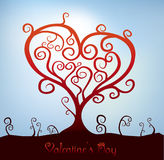 Valentine Tree Royalty Free Stock Photography