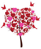 Valentine tree Royalty Free Stock Image