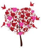 Valentine tree Royalty Free Stock Image