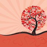 Valentine tree Royalty Free Stock Images