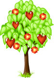 Valentine Tree Royalty Free Stock Photos