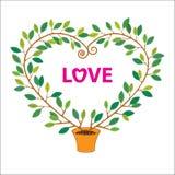 Valentine tree stock foto