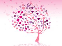 Valentine tree design Royalty Free Stock Photography