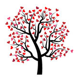 Valentine tree with heart Royalty Free Stock Photography