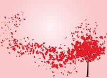 Valentine tree with hearts Stock Photo