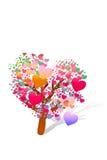 Valentine tree with hearts Stock Photos
