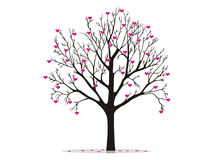 Valentine tree with hearts Stock Photography