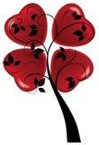 Valentine tree with hearts Stock Image