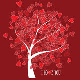Valentine tree with hearts Royalty Free Stock Photography