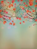 Valentine tree with hearts. EPS 10 Royalty Free Stock Images