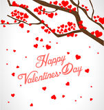 Valentine tree with hearts Royalty Free Stock Photos