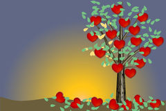 Valentine tree - illustration Stock Photography