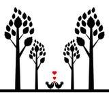 Valentine tree Stock Photography