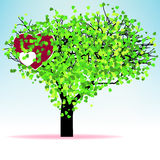 Valentine tree leaf from hearts. EPS 8 Royalty Free Stock Photography