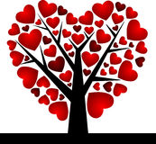 Valentine Tree with Love Heart, Vector Illustratio Royalty Free Stock Photo