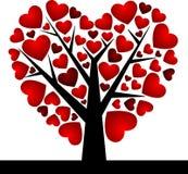Valentine Tree with Love Heart, Vector Illustratio Royalty Free Stock Photo