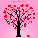 Valentine Tree with Love Heart, Vector Illustratio Royalty Free Stock Photography