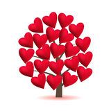 Valentine Tree, Love, Leaf From Hearts. Vector Illustration. Stock Photography