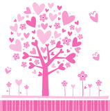 Valentine Tree Pink Royalty Free Stock Images