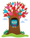 Valentine tree theme image 1 Royalty Free Stock Photography