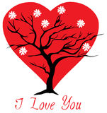 Valentine Tree Stock Image