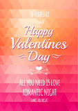 Valentine triangle background. Royalty Free Stock Photography