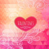 Valentine triangle background Royalty Free Stock Photography