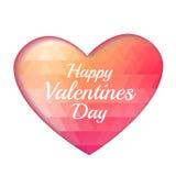 Valentine triangle heart background Royalty Free Stock Photo