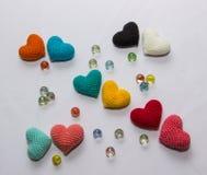Valentine tricotée multicolore Photo stock