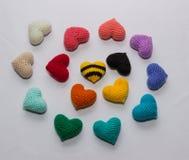Valentine tricotée multicolore photo libre de droits