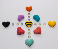 Valentine tricotée multicolore photos libres de droits