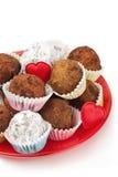 Valentine truffles Stock Image