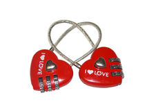 Valentine. Two heart in the form of a code lock Stock Photography