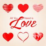Valentine, typo, amour, fond de papier Photo stock