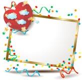 Valentine-uithangbord met kleurrijk document hart Stock Afbeeldingen