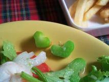 Valentine végétale Thaïlande d'amour de nourriture de salade de coeur Images stock