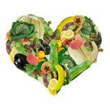 Valentine végétarien Photos stock
