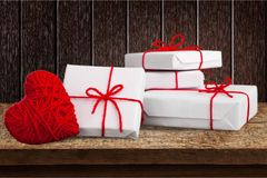 Valentine. Day background gift flat view heart stock image