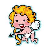 Valentine valentine's day cupid with bow and arrow Royalty Free Stock Images