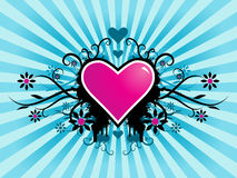 Valentine Vector. Vector - Valentine's day vector image with ink splats and vines. Funky and retro image Royalty Free Stock Photo