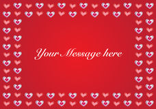 Valentine vector backgroundwith copy-space Stock Image