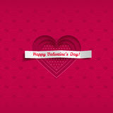 Valentine vector card with heart Stock Photo