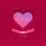 Valentine vector card with heart Royalty Free Stock Photos