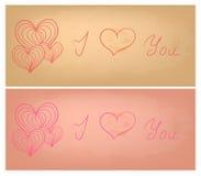 Valentine vector cards set Stock Image