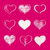 Valentine 02. Vector heart set,valentine s day , Love Royalty Free Stock Photos