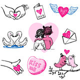 Valentine Vector Icons Royalty Free Stock Photography