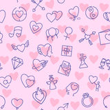 Valentine vector seamless pattern Royalty Free Stock Photography