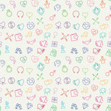 Valentine vector seamless pattern Stock Images