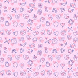 Valentine vector seamless pattern Royalty Free Stock Images