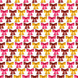 Valentine vector seamless pattern of glossy bows Royalty Free Stock Images